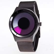 Hot Selling Personality No Pointer Watch Concept Design Student Fashion Watch Women Men Creative Wristwatches