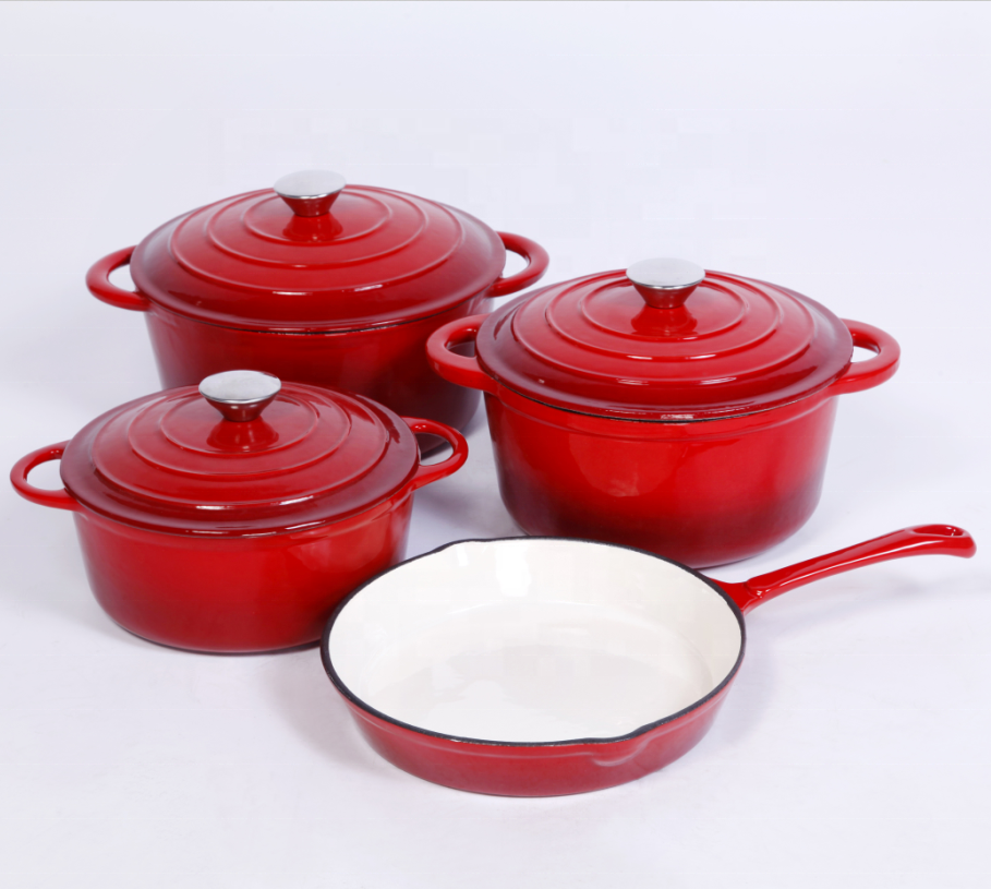 2019 heathly save oil cast iron enamel sauce pot