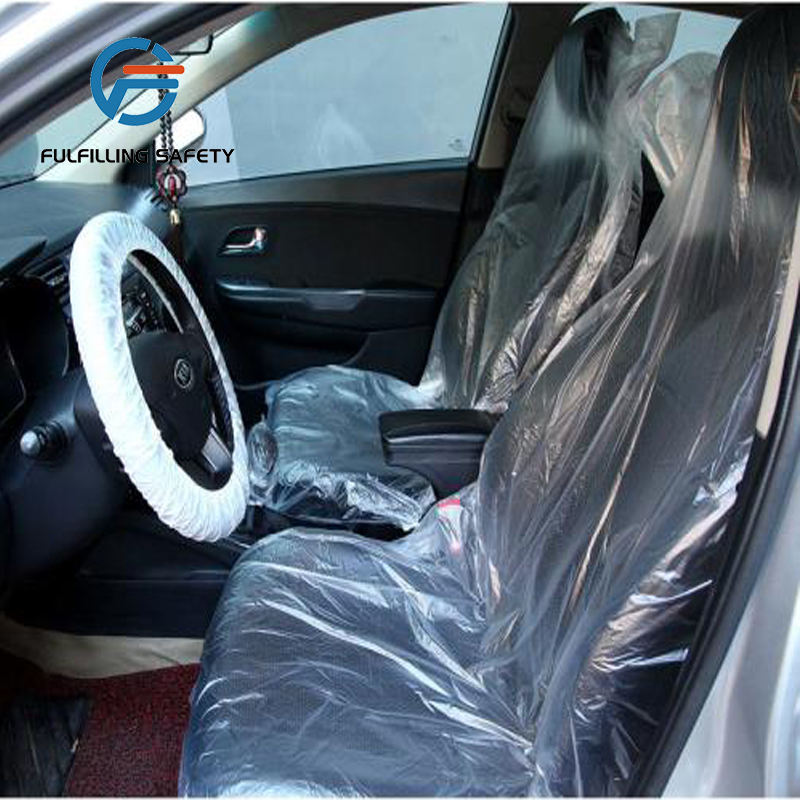 Disposable promotion plastic car seat covers made of PE