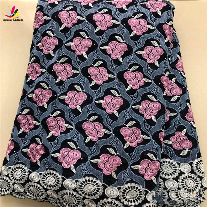 New Arrival Swiss Lace Fabric Nigeria swiss voile cotton lace fabric
