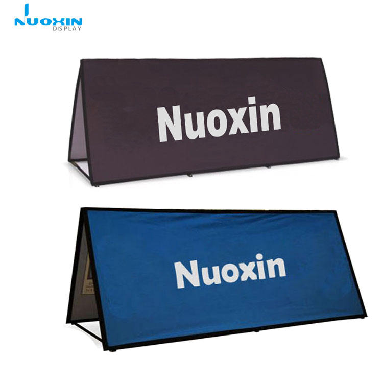 Branded Double Sided Printed Horizontal Square Pop Up Banner Rectangle A Frame Banner for Advertising