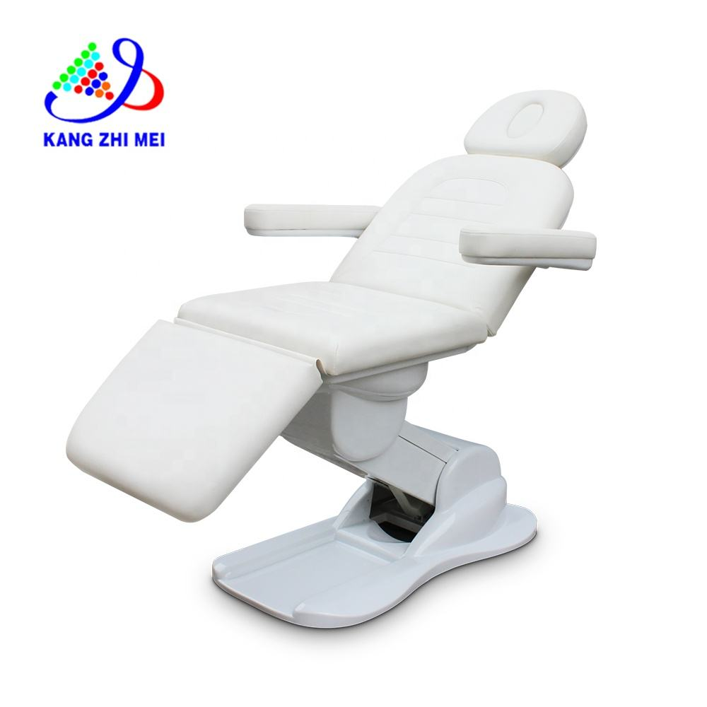 Modern Adjustable Lift Therapy Spa Salon Cosmetic 3 Electric Motors Beauty Massage Table Treatment Bed Podiatry Facial Chair