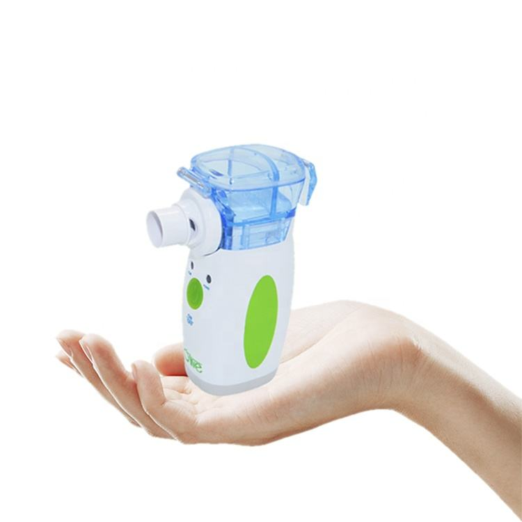 Olive 0.5-10um Mini Fog Nebulizer Portable Mesh Nebulizer Machine For Child And Adult Health Care