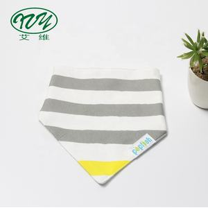 High Quality Cotton Breathable Stripe Bandana Bibs Baby