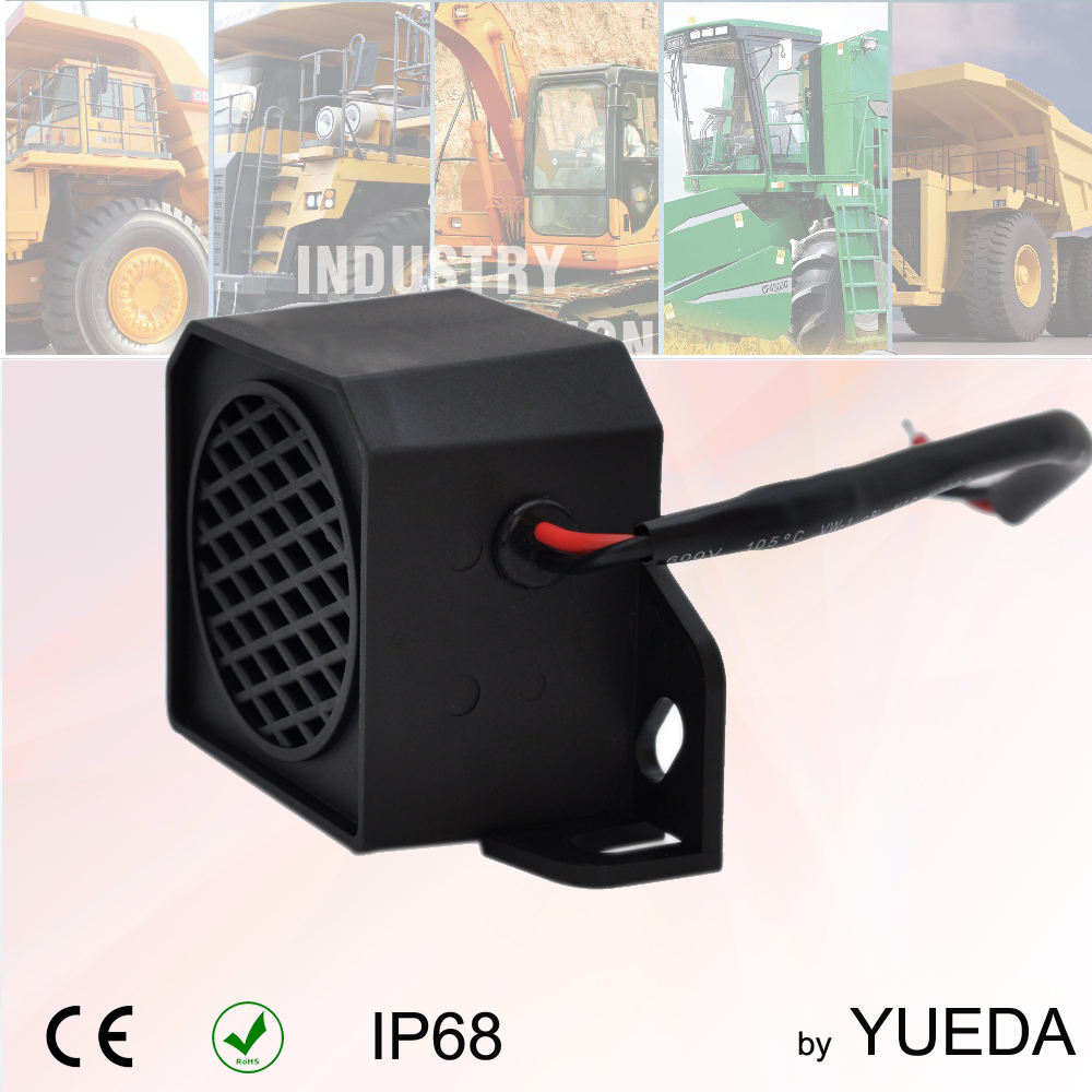 Acouto 12-80V 105 DB Universal Backup Beeper Warning Alarm Car Truck Vehicle Horn Heavy Equipment Black Car Reversing Horn