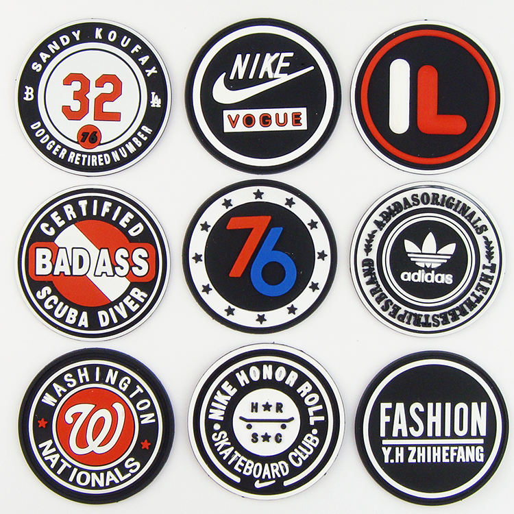 Custom quality wear-resisting 3d pvc rubber patch logo for clothing