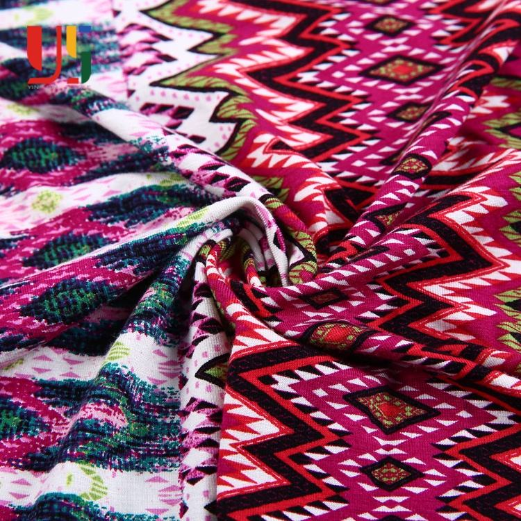 Colorful rayon spandex single jersey liberty digital Mexican print fabric guangzhou