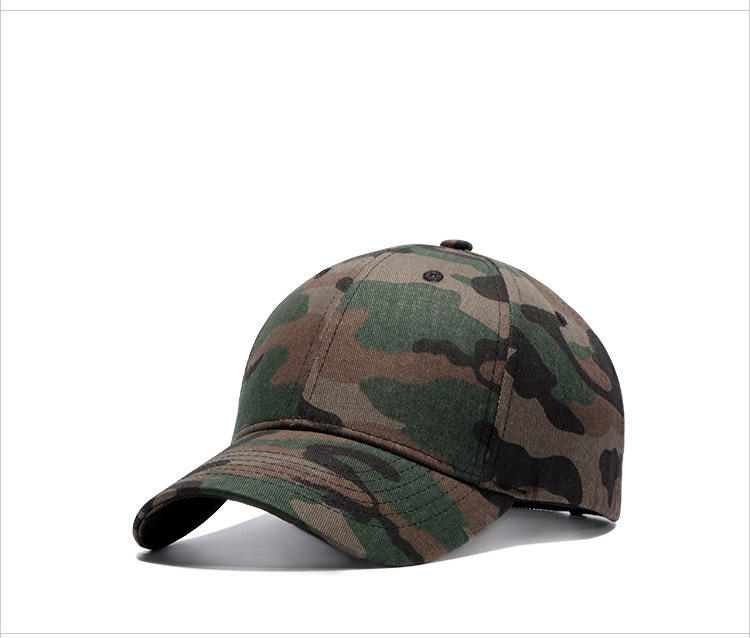 Hot Sell Metal Adjuster buckle camo baseball cap for army