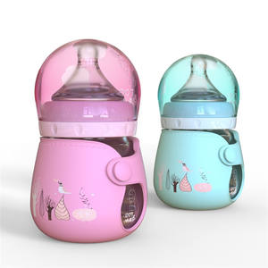 120ml 4oz infant glass feeding bottles with silicone coating
