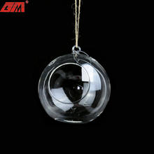 Hanging mini clear empty hand blown glass globe