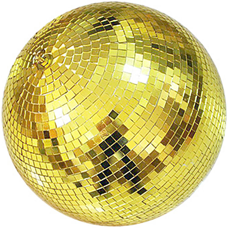 Professional mirror disco ball night club stage dj light gold disco mirror ball
