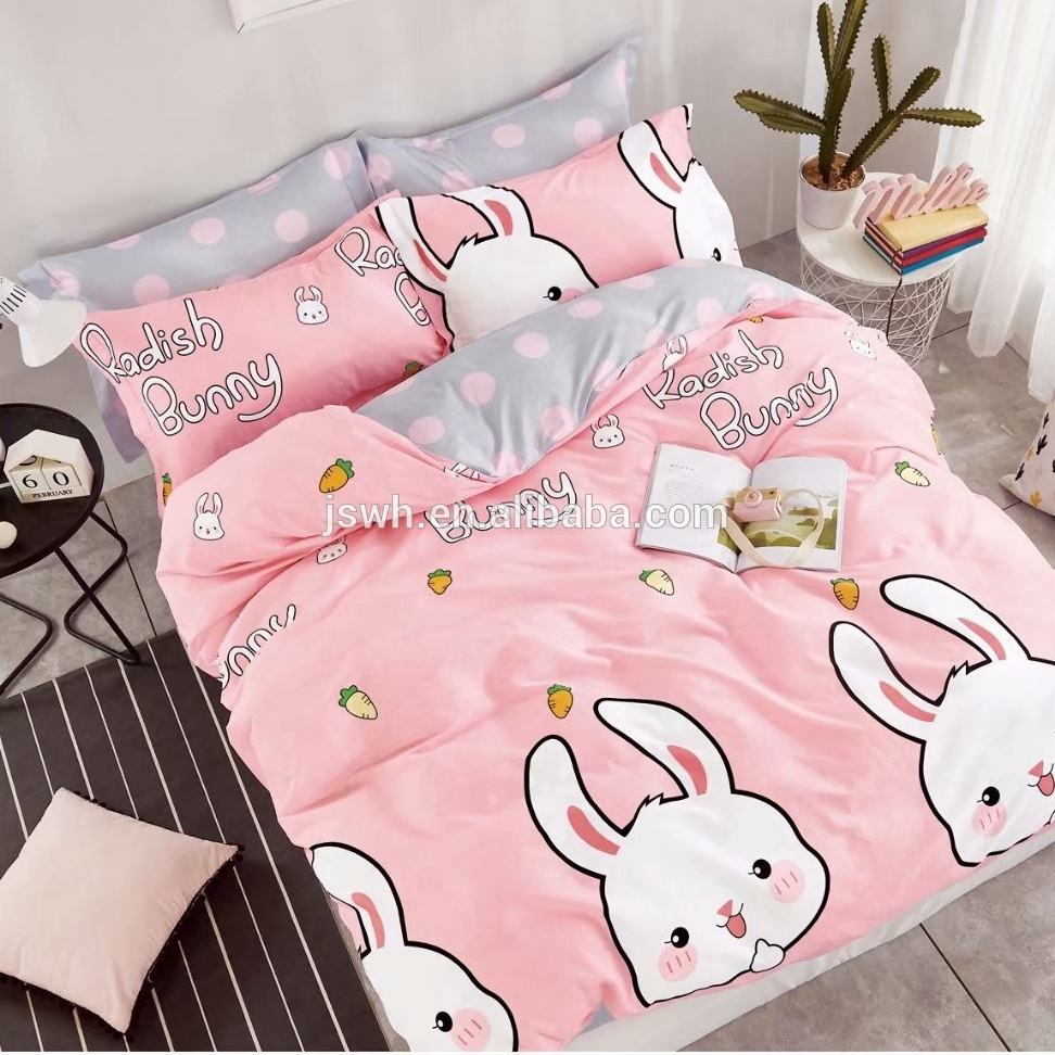 100% cotton print bedding set kid adult duvet cover set bed sheet set home textile