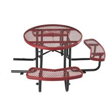 "Factory High Quality Goods 46"" Integrated Round Outdoor Garden Metal Coffee Chairs And Table Sets"