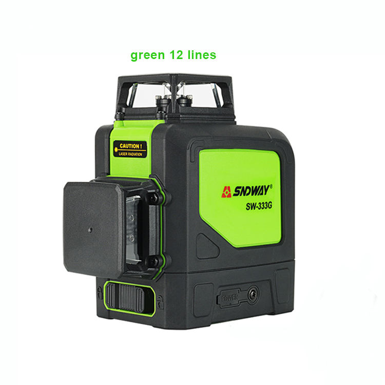 Easy to use Construction tool sndway SW-333G 3D green 12 lines nivel laser level