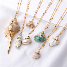 Lateefah 2019 Boho Shell Necklace Conch Seashell Necklace Pendant For Women Collier Femme Shell Porcelain Snail Summer Jewelry