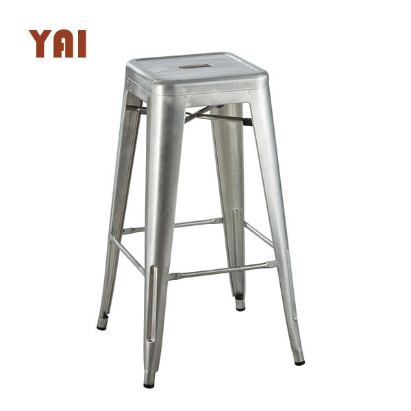 backless counter wholesale steel step galvanized outdoor industrial restaurant cheap metal bar stools