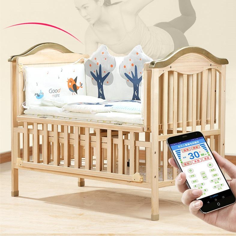 Intelligent Musical Electric Portable Baby Rocking Bed Infant Swing cradle