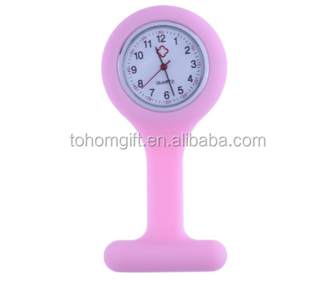New arrival china supplier OEM high quality cheap silicon doctor nurse pin watch
