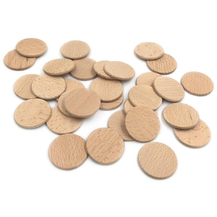 "1.5"" wooden circles round discs wood rounds coins circles wooden token"