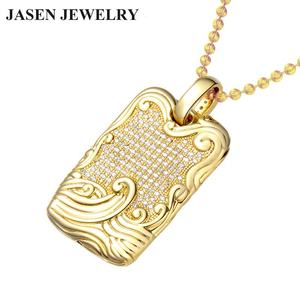 JASEN JEWELRY Fashion jewlery pendent fine jewelry gold dog tag pendent