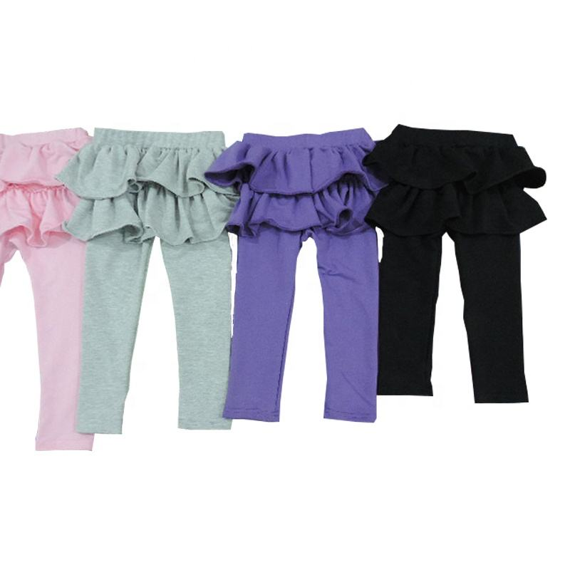 Girls wearing yoga pants leggings summer baby ruffle sweet toddler girl clothing