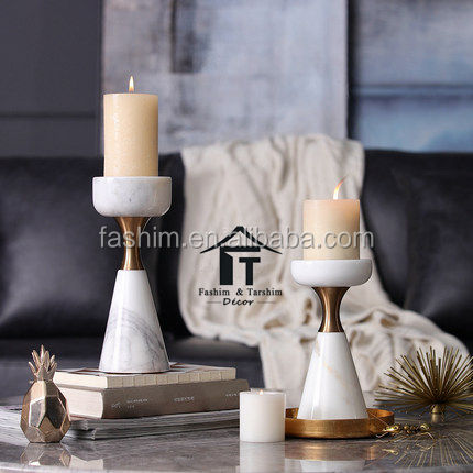 Wholesale Candle Holders In Unique Marble Stand Candle Holders