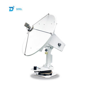 Ditel V241C 4-axis auto tracking 2.4m VSAT C band internet marine satellite dish antenna receiver antennas for communications