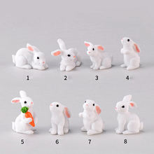 Garden DIY Decoration Miniatures Terrarium Figurines Ornament Easter Bunny Rabbit