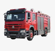 XDR  water foam dry powder combination military fire truck fire fighting truck for sale