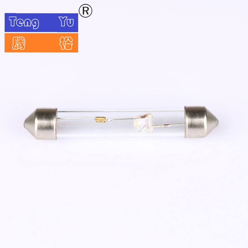 SV8.5 SV7 festoon xenon bulb for auto instrument accessories 24V C10W car license plate bulb