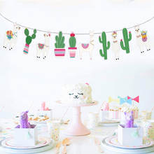 Baby Party Supplies Banner Alpaca Paper Sheep Bunting for Nursery Photo Prop Llama Party Decorations