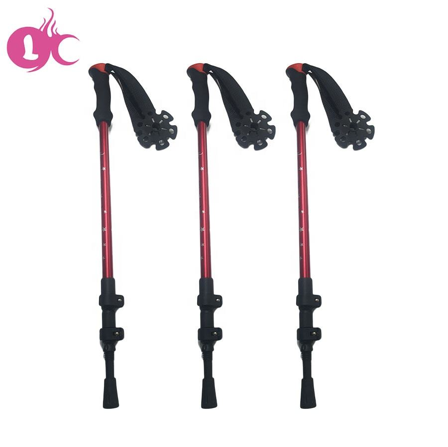 Factory price 2020 hot sales aluminum Trekking poles stick hiking stick for outdoor sport aluminium pole