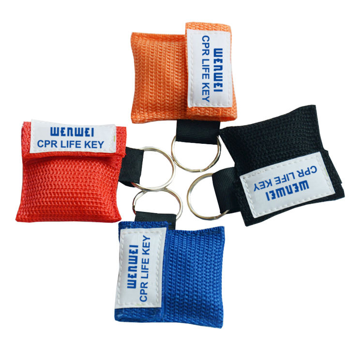 Hot Selling Einweg ventil <span class=keywords><strong>CPR</strong></span> Barrier Mask Schlüssel bund <span class=keywords><strong>CPR</strong></span> Mask Keyring Pouch