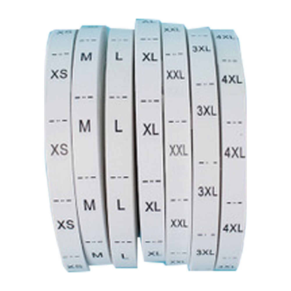 Size Label Factory Supply Clothing Label Printing Garment Care Printed Size Labels Sticker For Clothing Paper