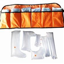 Compact PVC inflatable first aid air splints for emergency rescue (6pcs)