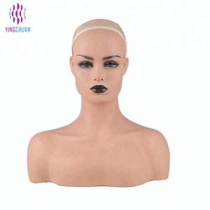 Realistic mannequin head for wig display