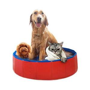 extra dog swimming pool collapsible pet bathing tub anti-slip great for cats kids foldable outdoor PVC shower garden house
