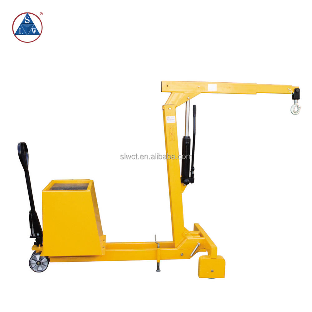 750kg Portable Manual Counter Weight Hydraulic Mobile Floor Crane