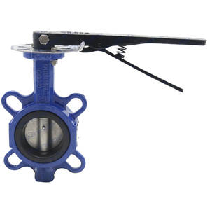 Ductile Iron Center Line EPDM Lined wafer butterfly Valve DN40-DN200