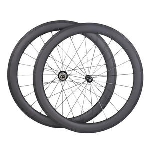 Carbon 700C Road bicycle Rim 25mm width 60mm high profile clincher wheel