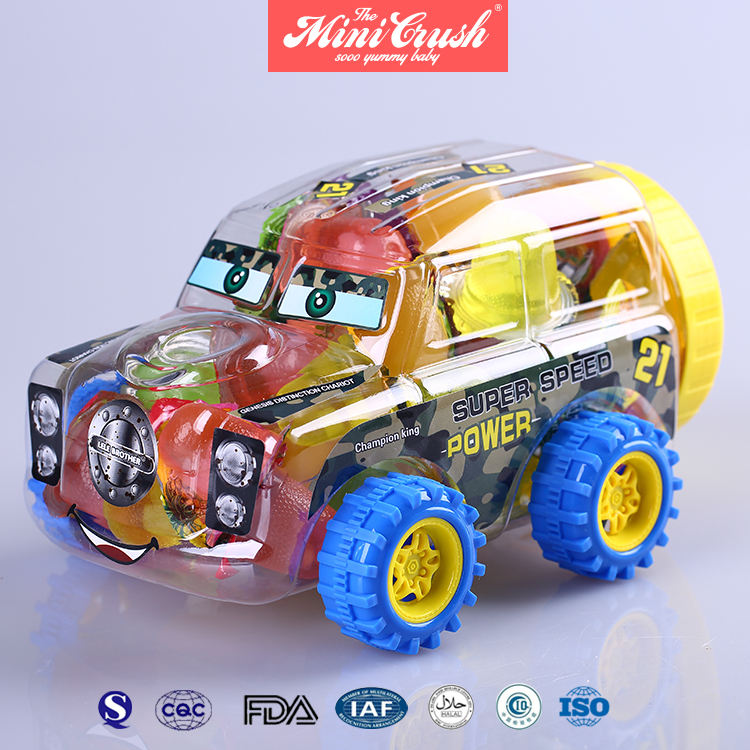 Magic racewagen speelgoed snoeppot soorten ssorted fruit clear <span class=keywords><strong>plastic</strong></span> mini cup jelly