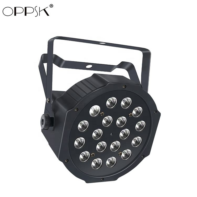 OPPSK 18x1W China DJ Equipment DMX Uplight Battery Powered Wireless Par Light Rechargeable Led Stage Lighting