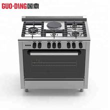 4 burner gas cooking range stainless steel electric oven