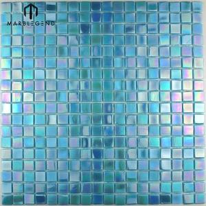 China mosaic Design fabricator blue glass mosaic tile for swimming pool