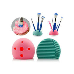 Colorful brush egg silicone makeup brush cleaner and dryer