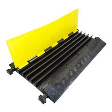 Flexible  90cm 100% Reclyed Rubber 5 Channel Heavy Duty Cable Protector Ramp Straight Cable Covers Hump