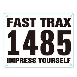 Customized Tyvek Paper Race Bib Numbers For Running Events Race Number Bib Clips