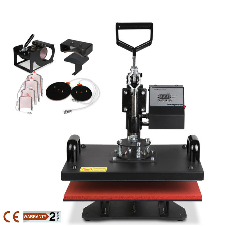 High Quality 9 in 1 Combo 3d Small Mug Industrial Grade Tshirt Printing Heat Press Machine