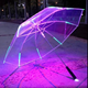 Wholesale Custom Led Light Dome Shaped Bubble Clear Transparent Child Kid Led Umbrella