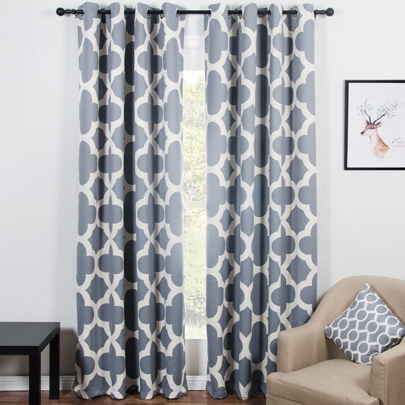 Gray Blackout Curtains For Bedroom Window Curtains Living Room Ready Made Cortinas Blinds Drapes Rideaux Ready Made